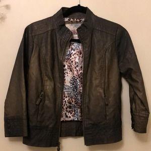 BKE Faux Leather Moto Jacket, M